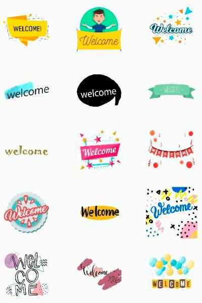 Welcome pack стикеры ватсап